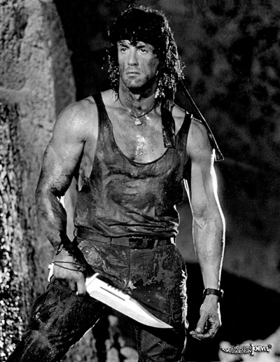 Rambo with 3 knife