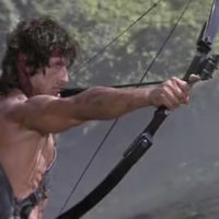 Rambo bow and arrow big